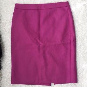 J. Crew size 6 wool pencil skirt